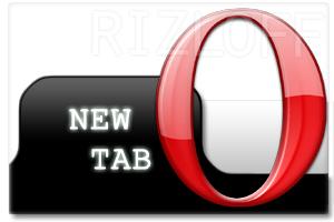 Opera new tab