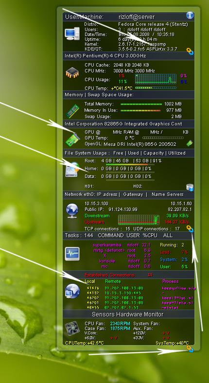 Первоначальный вид Easy Monitor