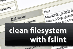 clean filesystem with fslint